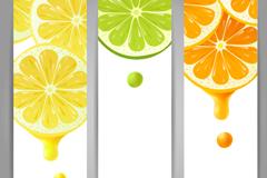 彩色柠檬banner矢量素材
