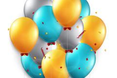 精美彩色气球背景矢量素材