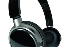 精美无线耳麦设计矢量素材