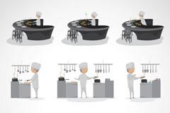 卡通厨师形象矢量素材