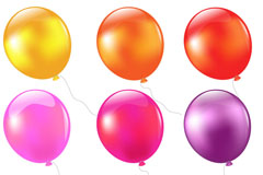 9款彩色气球设计矢量素材
