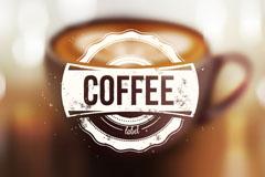 创意模糊咖啡背景矢量素材
