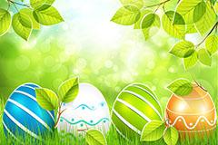 精美春季彩蛋剪贴画矢量素材