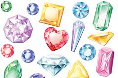 彩色钻石设计矢量素材