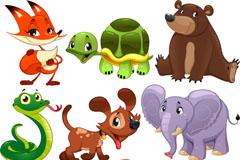 9款卡通动物设计矢量素材