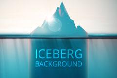 精美冰川背景矢量素材