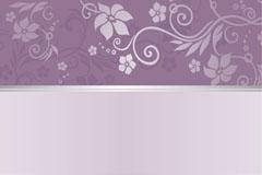 精美紫色花纹背景矢量素材