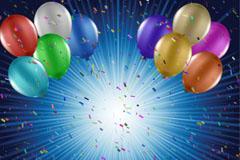 节日气球背景矢量素材