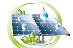 节能环保太阳能矢量素材