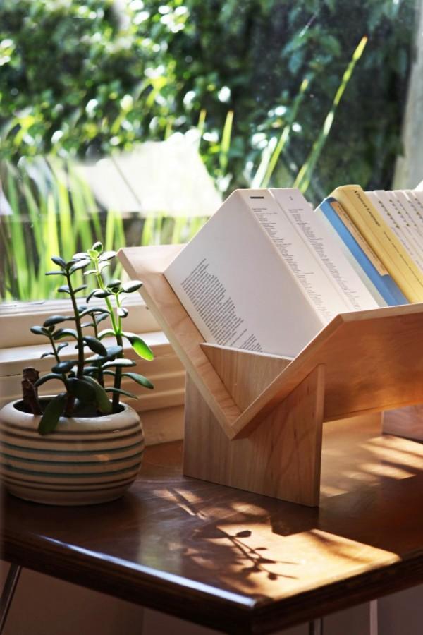 原木书架设计