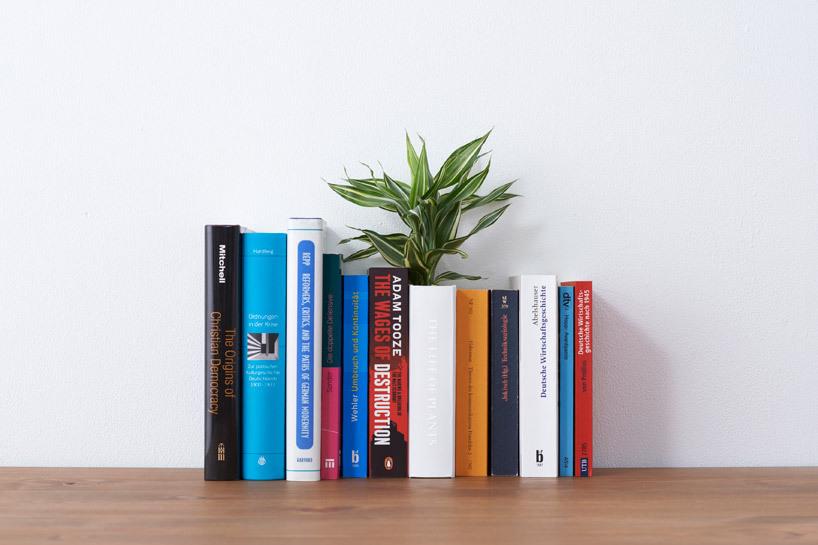 隐藏在书架中的花瓶