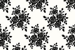 精美黑色玫瑰背景矢量素材