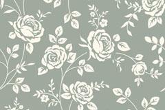 复古玫瑰花枝背景矢量素材