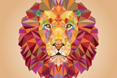 创意几何形狮子头矢量素材