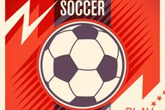 红色足球背景矢量素材