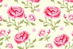 粉色花卉背景矢量素材