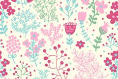 淡彩花朵背景设计矢量素材