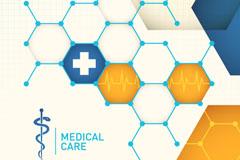 创意医疗背景设计矢量素材