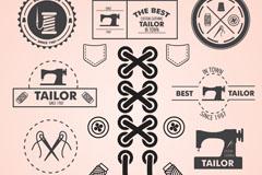 复古缝纫元素设计矢量素材
