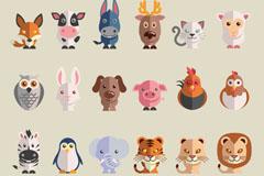 24款可爱卡通动物矢量素材