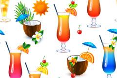 夏日清凉饮品矢量素材