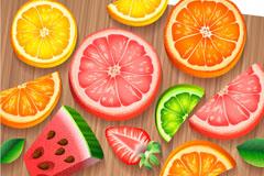 热带水果背景矢量素材
