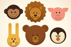 9款动物宝宝头像矢量素材