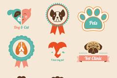 卡通宠物标签矢量素材