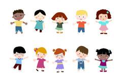 15个幼稚园孩童设计矢量素材