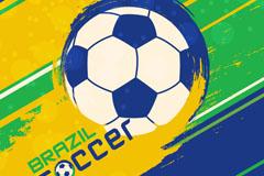 巴西世界杯油彩背景矢量素材