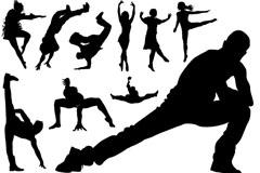 18款舞者剪影矢量素材