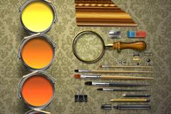 装潢设计工具矢量素材
