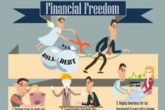 卡通金融信息图矢量素材
