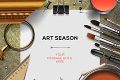 艺术设计工具和桌面矢量素材