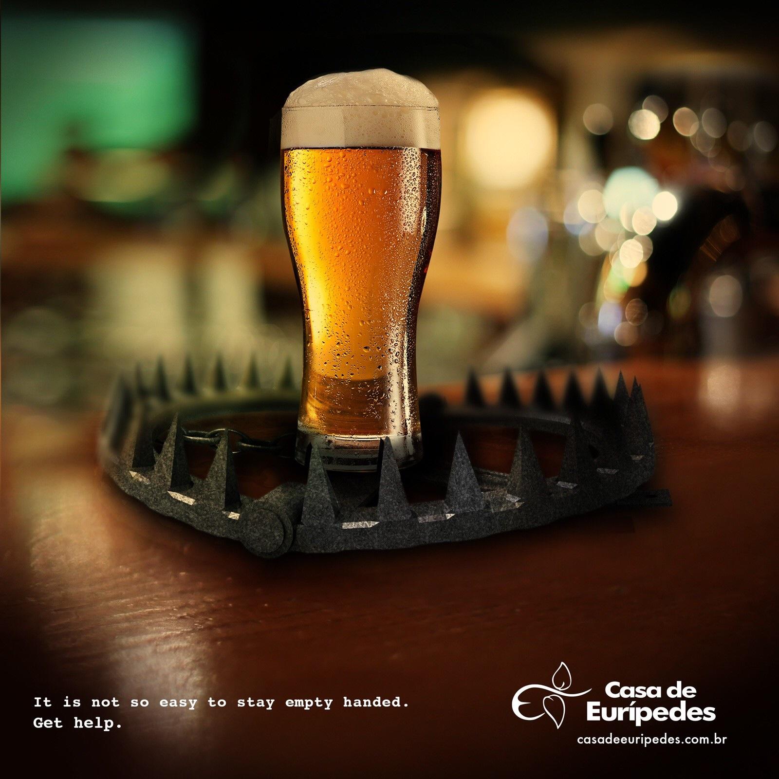 康复中心戒酒广告:带刺的危险
