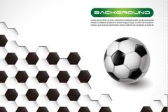 创意足球背景矢量素材