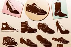 15款鞋子�O�矢量素材
