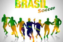 动感巴西世界杯海报矢量素材