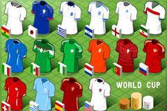 16款世界杯球服设计矢量素材