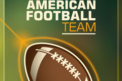 复古美式橄榄球队海报矢量素材