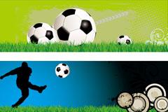 创意足球banner设计矢量素材
