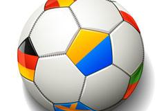 精美彩色足球设计矢量素材