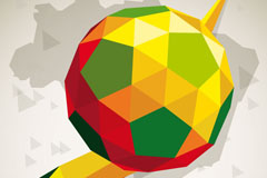 彩色创意足球背景矢量素材
