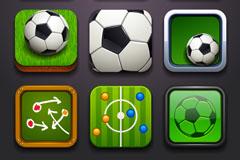 精致方形足球图标矢量素材