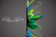 抽象时尚花纹背景矢量素材