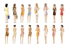 24款时尚女性设计矢量素材