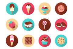16款精致甜品图标矢量素材