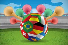 创意世界杯足球背景矢量素材