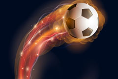 光效火焰足球背景矢量素材