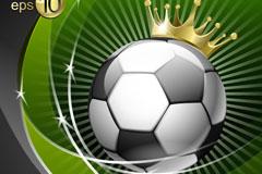 创意皇冠足球背景矢量素材